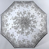 Белый зонтик трость  с цветочным узором Airton 16255-06
