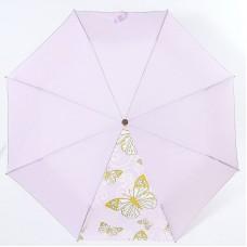Зонт женский однотонный с бабочками полуавтомат Airton 3631-196