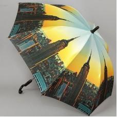 Сатиновый зонт-трость с системой полный автомат Ame Yoke L58-9801
