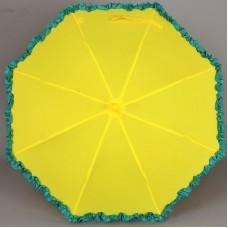 Детский зонт однотонный с рюшами ArtRain 1652-05