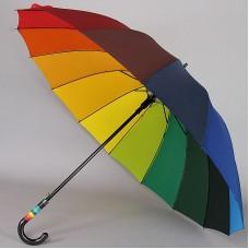 Зонт трость радуга с огромным куполом ArtRain 1692