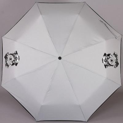 Компактный (24 см) серый зонтик ArtRain 3517