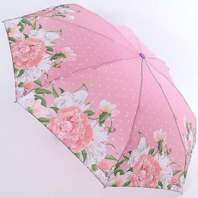 Зонтик в горошек с цветочками по канту супер мини ArtRain 5316-03
