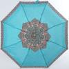 Зонтик женский бирюзовый (18см, 220гр, купол 92см) механика ArtRain арт.5316-1644 Узоры