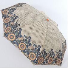 Зонт бежевый в горошек с узорами по канту ArtRain арт.5316-1641