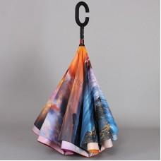 Зонт двойной наоборот Dolphin 218-9801 с чехлом лямка на плечо