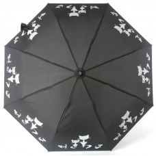 Зонт женский Doppler 7441465 C1 Забавные Кошечки на черном фоне