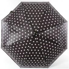 Зонт женский Doppler 744765BE-9801 Белый горошек с кантом на чёрном