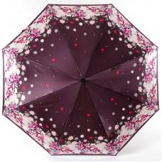 Зонт женский Doppler 74660 FGL 17 Цветочная сказка на бордовом