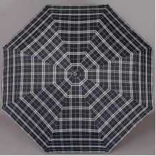 Зонт Fabretti MCH-1 мужской тёмно-синий серая клетка