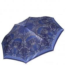 Синий женский зонт в узорах Fabretti S-16108-1
