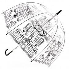 Зонт трость прозрачная Lulu Guinness by Fulton L719-2407