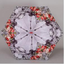Женский плоский зонт Lamberti 73116-1853 Париж в розах