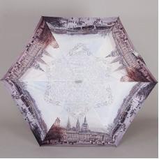 Зонт плоский супер легкий Lamberti 73116-1819 Ретро город в узорах
