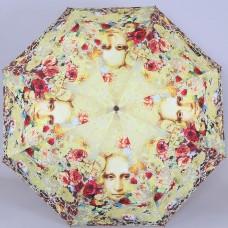 Зонтик с дизайном Никаса Сафронова S.Nikas by Lamberti 73947-1865 Фрагментарное явление Джаконды через цветы