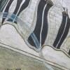 Дизайнерский зонт S.Nikas by Lamberti 73947-1867 Королевство кривых зеркал на фоне девушки в красном
