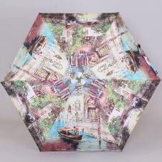 Дизайнерский женский плоский зонт S.Nikas by Lamberti 75117-1866 Лето в Европе в стиле дрим вижн