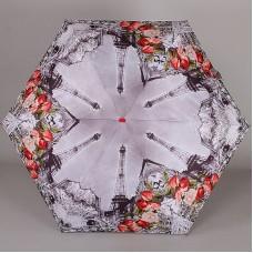Женский плоский мини зонтик Lamberti 75336-1853 Париж в розах