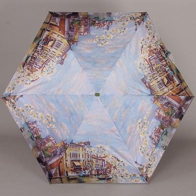 Зонт женский плоский мини Lamberti 75336-1851 Венеция в цветах