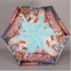 Женский зонтик плоский супер мини Lamberti 75336-1804 Городские зарисовки