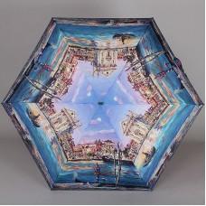 Зонт женский плоский супер мини Lamberti 75336-1801 Солнечная Венеция