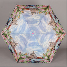 Мини зонт плоский Lamberti 75336-1852 Прогулки по Венеции в цветах