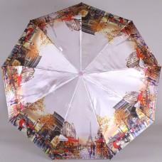 Зонт 9 спиц полный автомат Laska 1852-9803 Осенний Париж