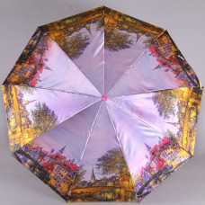 Зонт 9 спиц, 460гр, купол 102см Laska 1852-9804 Вечерний город