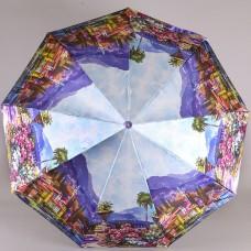 Женский зонтик 9 спиц Laska 1852-9806 Побережье Италии