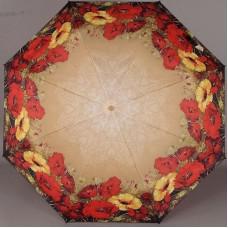 Зонтик с маками на куполе (механика) Magic Rain 1231-1635