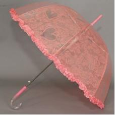Розовый зонтик трость детский Magic Rain 14891