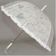 Зонтик трость детский Magic Rain 14891 Белый с рюшами