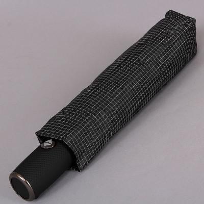 Мужской зонт мелкая серая клетка Magic Rain 7021-1704