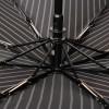 Черный зонт Magic Rain 7021-1702 Серая полоска