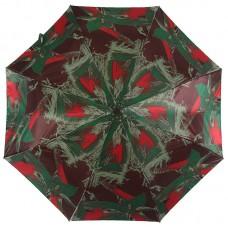 Женский зонтик Magic Rain 3344-18 Абстракция на коричнево-бордовом