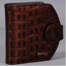 Коричневый кошелек из натуральной кожи Malgrado 41007-1B-65 Coffee