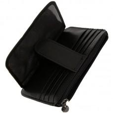 Держатель для карточек из натуральной кожи Malgrado 46016-55D Черный