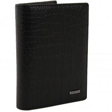 Мужское портмоне из натуральной кожи Malgrado 50005-3-2901D Черное