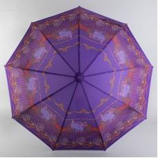 Женский зонтик M.N.S P406 Узоры на сиреневом