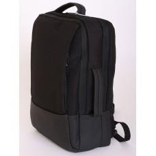 3017-01 Деловой рюкзак трансформер Чёрный