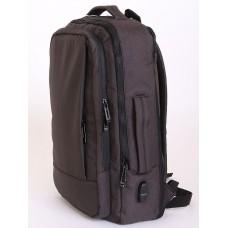 3020-01 Деловой рюкзак трансформер Черный