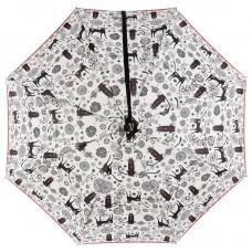 Женский зонтик трость NeX 31611-039 Веселые кошки