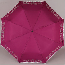 Зонт женский NeX 33841-036B Кошечки на бордовом