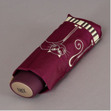 Зонт женский плоский NEX 65511-036B Кошечки