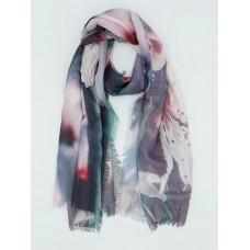 Женский платок Сакура, Серо-розовый