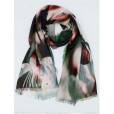 Женский платок Сакура,Зеленый