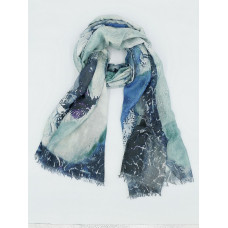Женский платок нежно-голубой