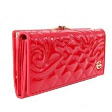 Кошелек Primavera 482-9813-13324Х6 красный лак с вышивкой