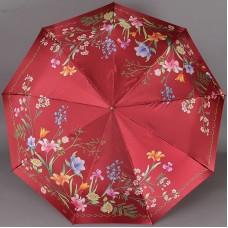 Красный зонт с цветочками