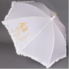 Зонтик трость с рюшками свадебный Sponsa 6077-9803